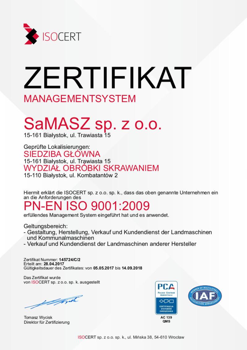 Certyfikat De