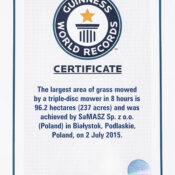 Certyfikat Sa Masz Guinness