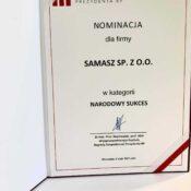 Nominacja Narodowy Sukces Samasz