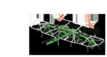 Trailed rotary tedders