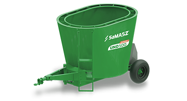 Mixer feeder with one auger