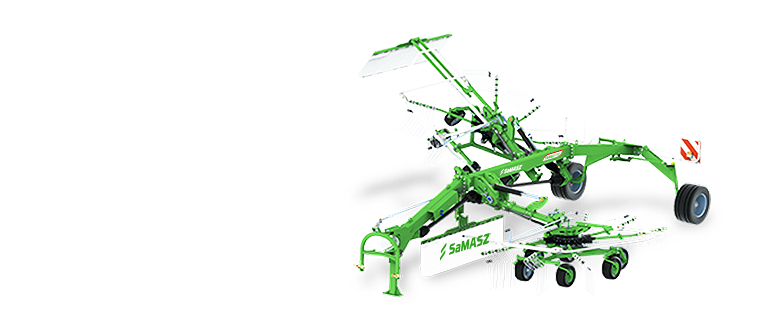 2-rotor rotary rakes TANGO-1 or 2 windrows
