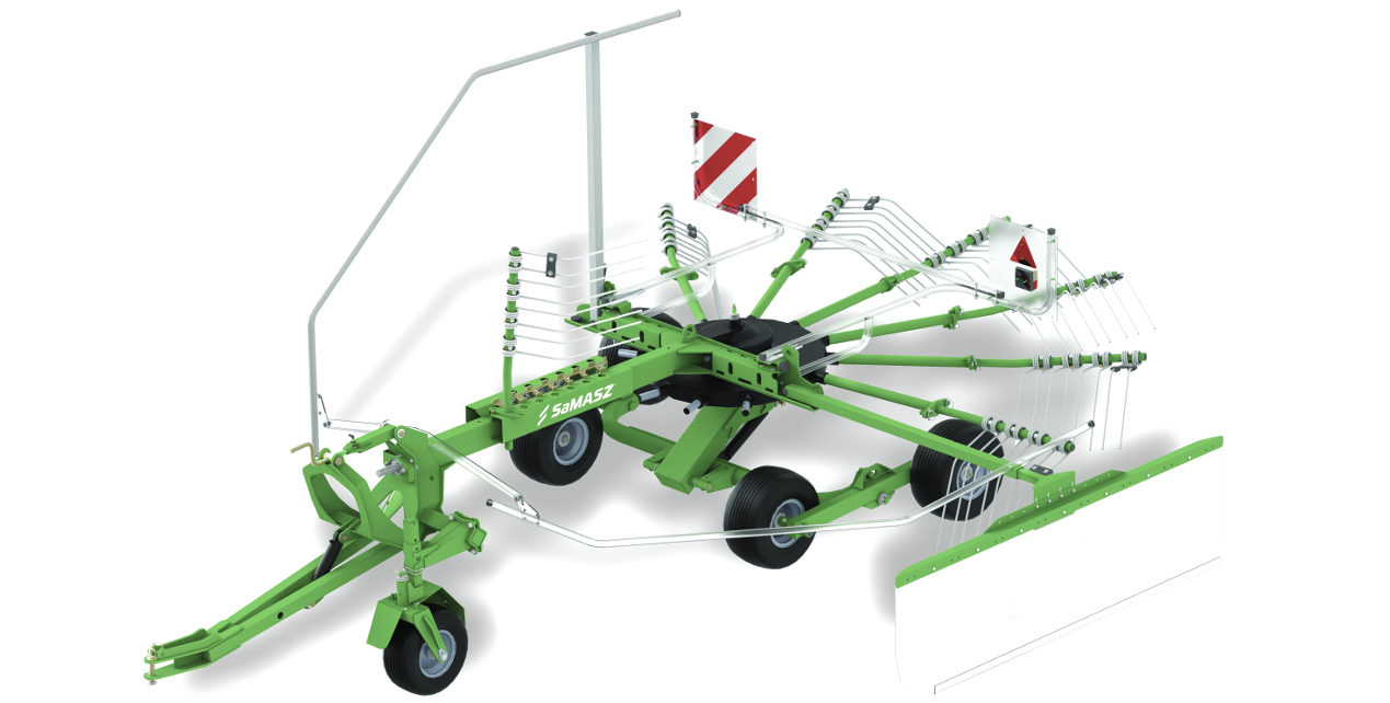 Advantages of Single Rotor Rakes UNO - trailed