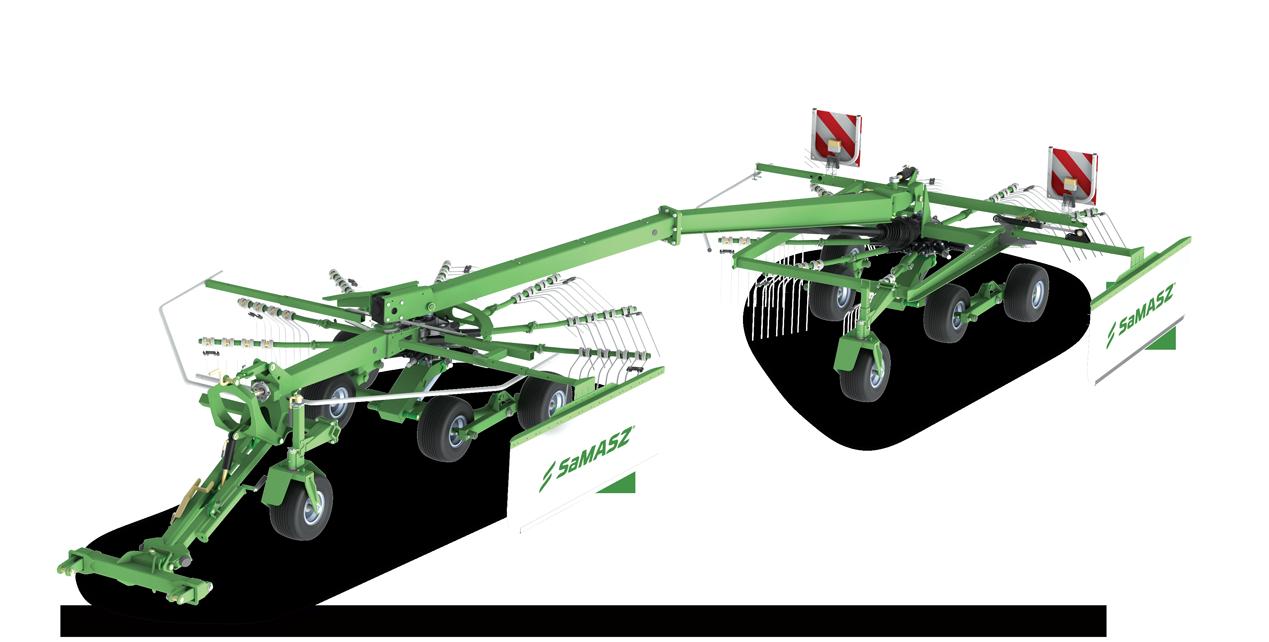 Advantages of 2-rotor rakes DUO