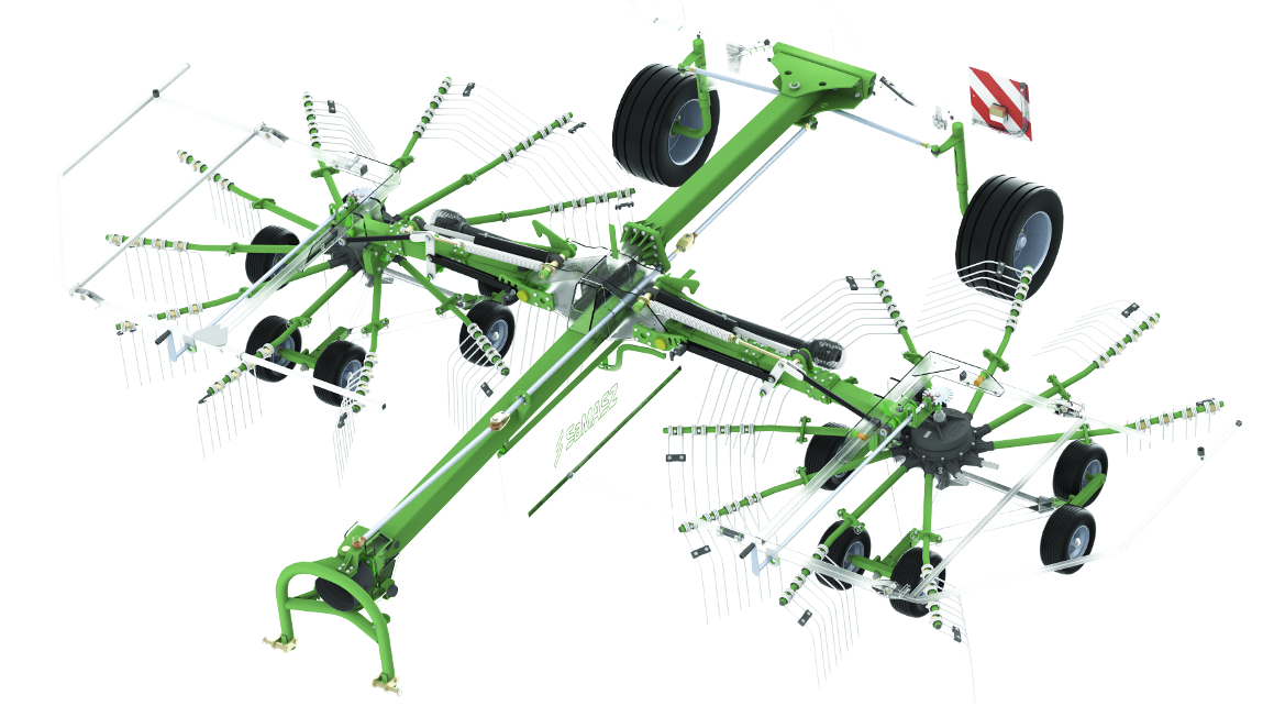 Advantages of 2-Rotor Rakes Z2