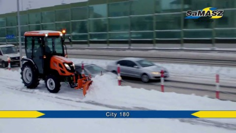 Lekki pług śnieżny CITY 180 SaMASZ