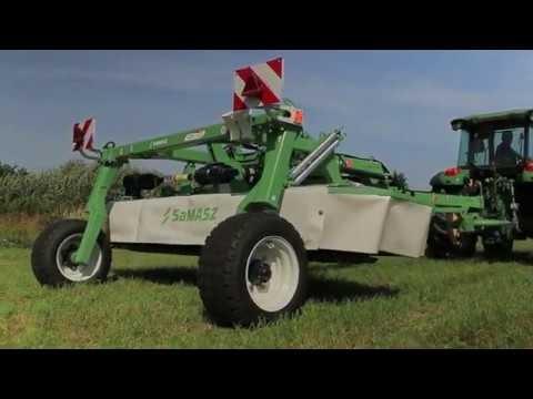 Podłączanie kosiarki dyskowej SaMASZ KDC 301 WT // SaMASZ disc mower KDC 301 WT with VALTRA tractor