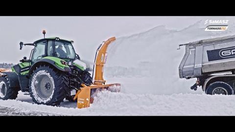 Pług wirnikowy TORNADO 252 / Rotary Snow blower TORNADO 252 SaMASZ / Die Schneefräse TORNADO 252