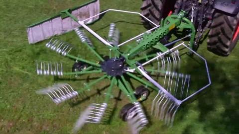 Zgrabiarka jednokaruzelowa SaMASZ Z-410 z KUBOTĄ // Single rotor rakes Z-410 from SaMASZ with KUBOTA