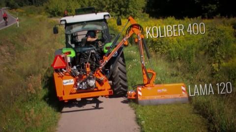 Ramię wysięgnikowe SaMASZ KOLIBER + Lama 120 // Deutz - Fahr with SaMASZ extension arm